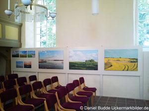 Ausstellung in der Fahrradkirche Warnitz Juni 2011